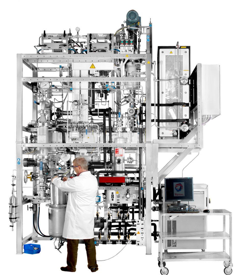 Box Image Fully-Automated Pilot-Scale Polystyrene Monomer Dosing Station, Reactor and De-Volitizer